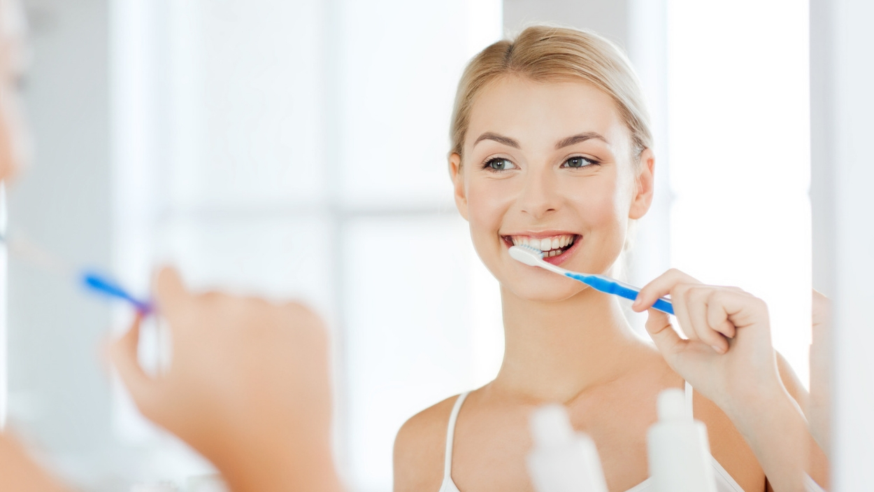 Brushing & Flossing Twice a Day